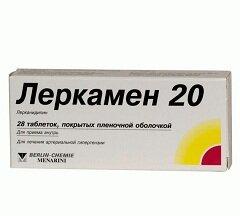 Леркамен в дозировке 20 мг